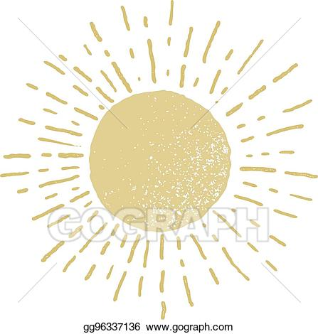 Circle of hands clipart one color clipart free download Vector Stock - Vector hand drawn sun isolated on white background ... clipart free download