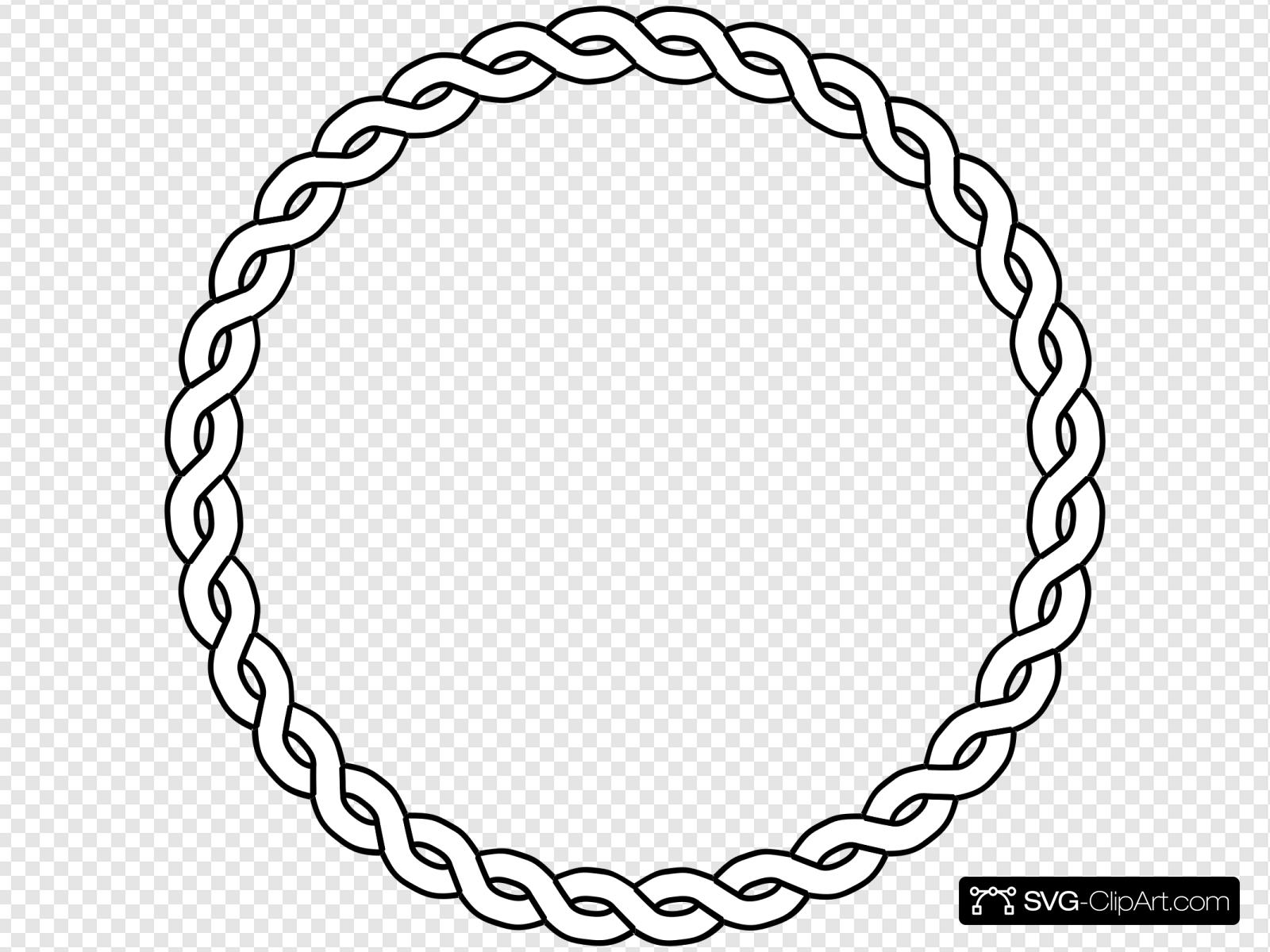 Circle of rope clipart graphic stock Rope Border Circle Clip art, Icon and SVG - SVG Clipart graphic stock