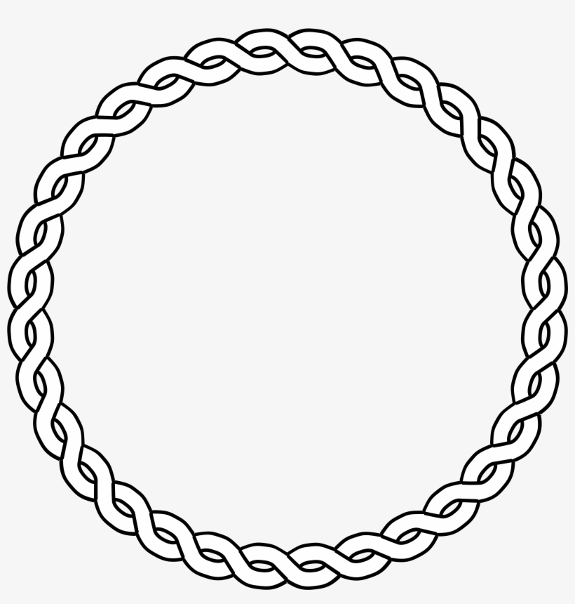 Circle of rope clipart black and white graphic download Clipart Rope Circle Black White Line Art Coloring - Circle With ... graphic download