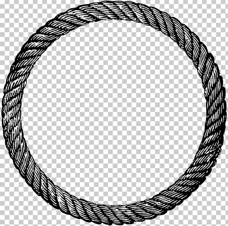 Circle of rope clipart black and white clipart download Rope Lasso PNG, Clipart, Black And White, Body Jewelry, Braid, Chain ... clipart download