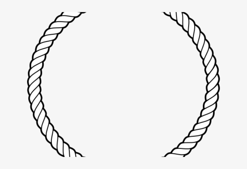 Rope circle clipart svg black and white stock Rope Circle Cliparts - Circle Rope Vector Png PNG Image ... svg black and white stock