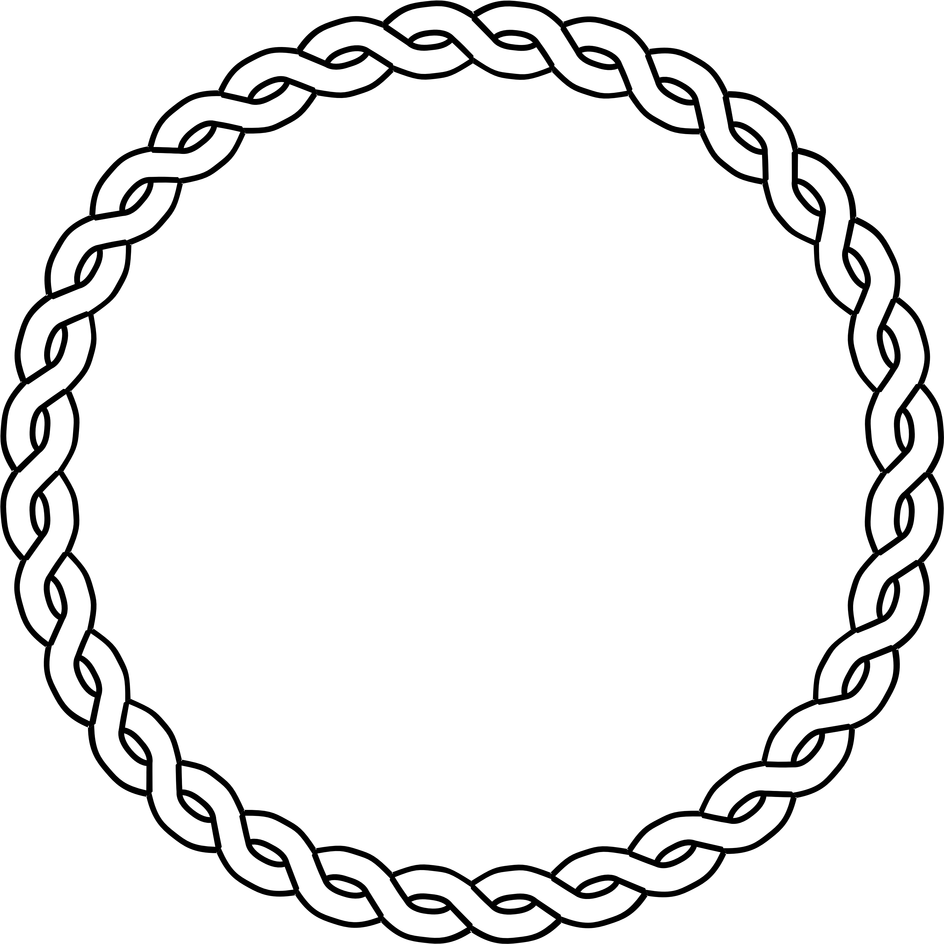 Circle of rope clipart black and white png freeuse library Download Clipart Rope Circle Black White Line Art Coloring - Circle ... png freeuse library