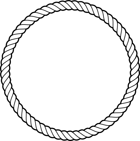 Circle of rope clipart black and white image freeuse library Free Rope Circle Cliparts, Download Free Clip Art, Free Clip Art on ... image freeuse library