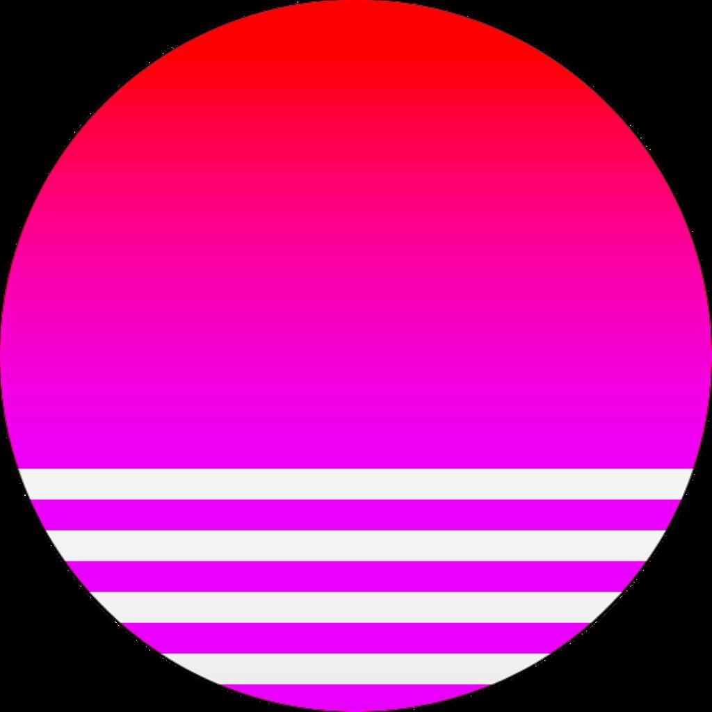 Vaporwave sun clipart banner library download ftestickers vaporwave circle sun geometric planet... banner library download