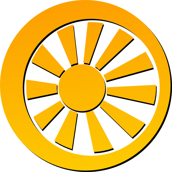 Circle sun clipart picture freeuse Shining Sun Clip Art at Clker.com - vector clip art online, royalty ... picture freeuse