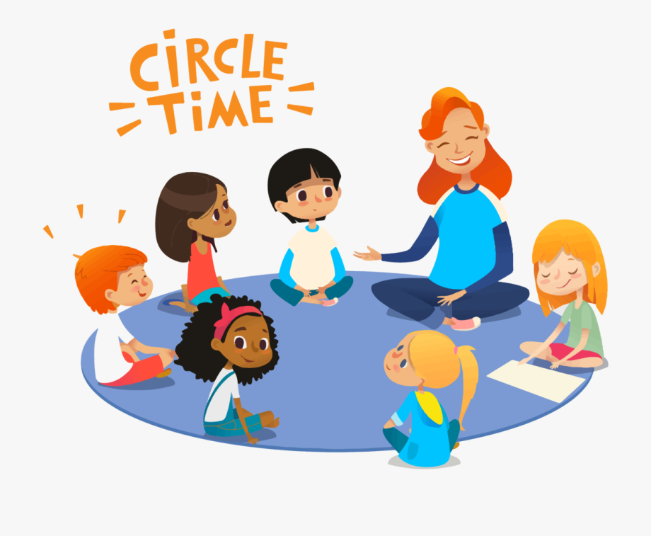 Circle time preschool clipart image freeuse stock Circle Time What, Why & Observations - Cartoon Circle Time Preschool ... image freeuse stock