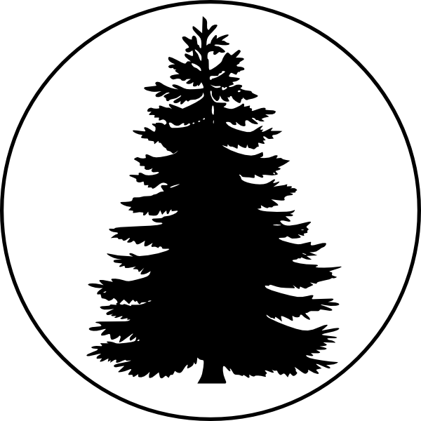 Spruce tree clipart clip transparent download Tree In A Circle Large Clip Art at Clker.com - vector clip art ... clip transparent download