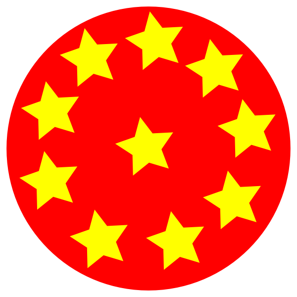 Star in a circle clipart picture royalty free stock Red Circle With Stars Clip Art at Clker.com - vector clip art online ... picture royalty free stock