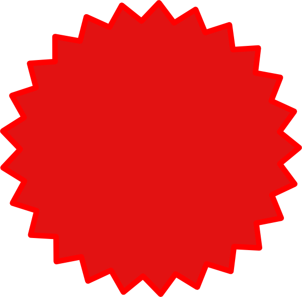 Star brust clipart vector black and white Starburst Clip art - red star 600*589 transprent Png Free Download ... vector black and white