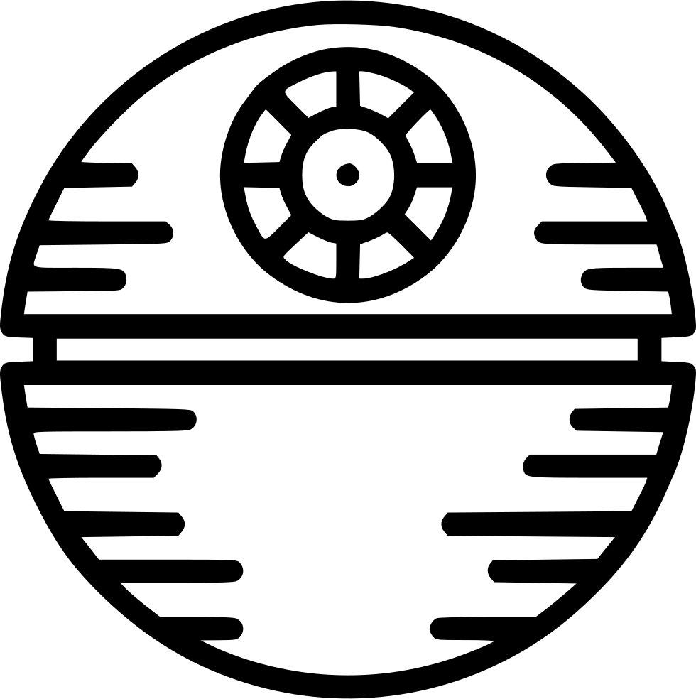 Death star clipart black and white picture black and white Death Star Svg Png Icon Free Download (#537478) - OnlineWebFonts.COM picture black and white