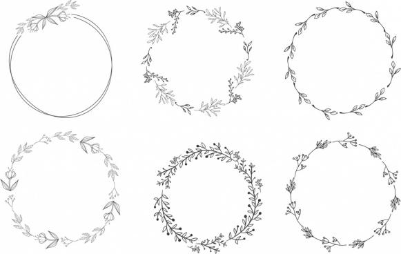 Circle wreath clipart