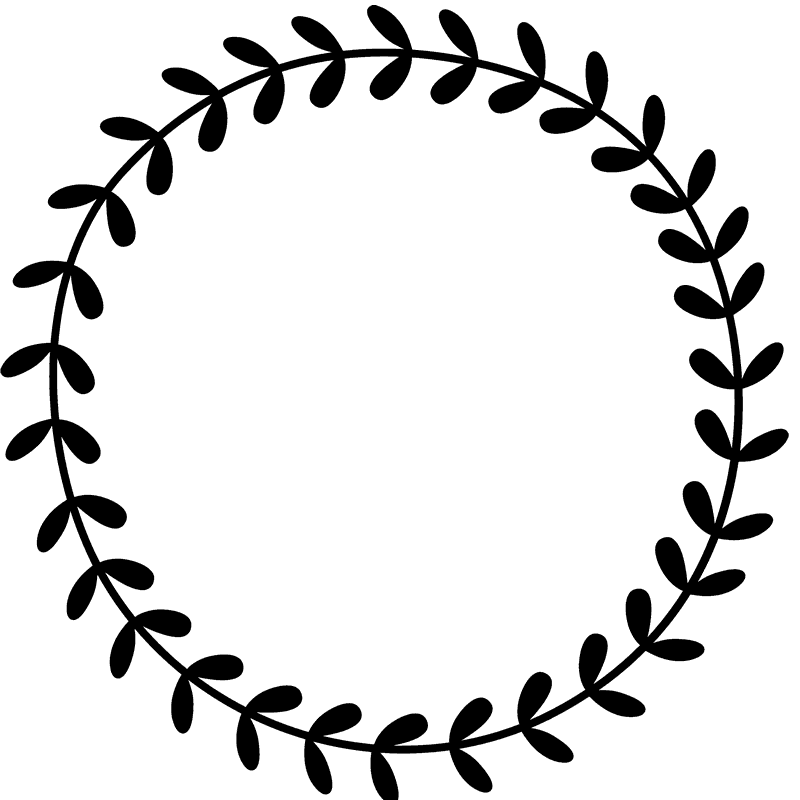Ideas for clipart vinyl in frams for cricut download circle clipart wreath #2001 | SVG Cricut designs | Leaf border ... download