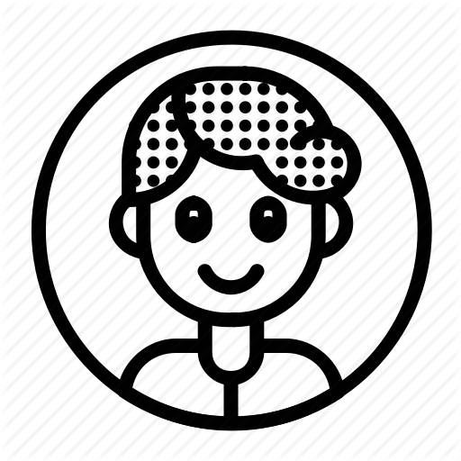 Circleavatar clipart banner black and white \'Circle Avatar Dot Hair\' by Andi Nur Abdillah banner black and white
