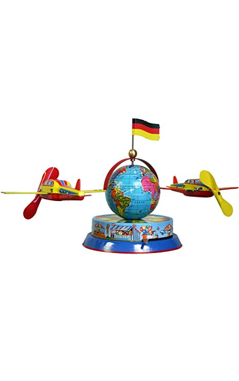 Circling wind clipart graphic free Tin Wind-up Toys: Planes Circling the Globe: Amazon.co.uk: Kitchen ... graphic free
