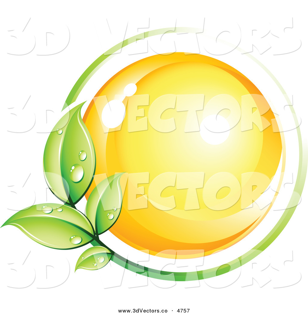 Circling wind clipart picture stock 3d Vector Clipart of a Pre-Made Logo of a Green Leafy Vine Circling ... picture stock