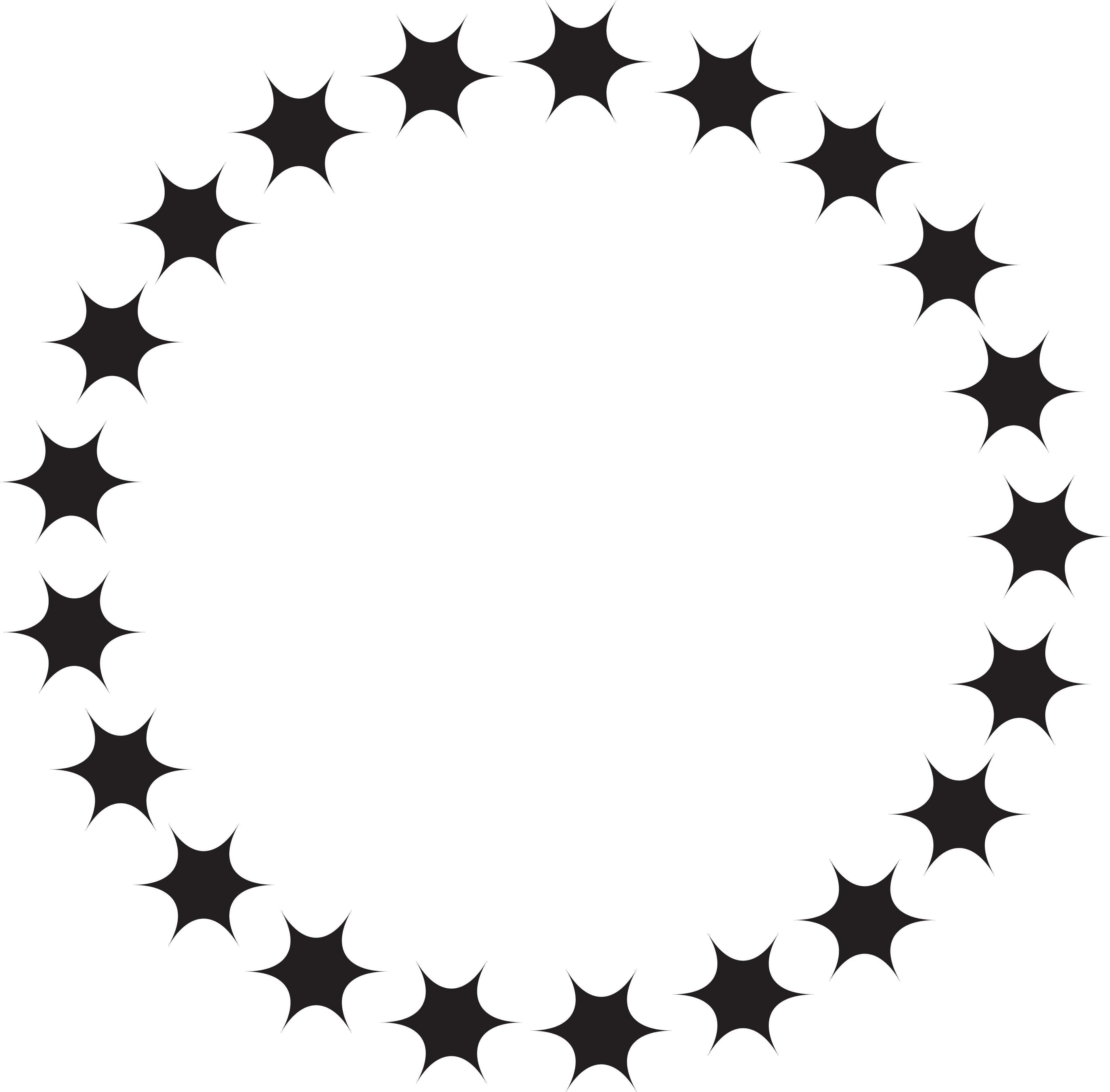 Circlw star clipart vector black and white download HD Jpg Black And White Download Circle Of Stars Clipart - Circle ... vector black and white download