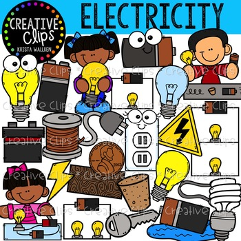 Circuits clipart jpg library Electricity and Circuits Clipart {Creative Clips Clipart} jpg library