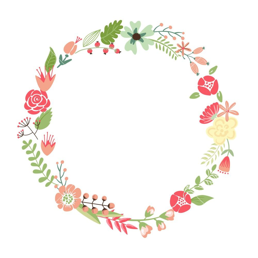 Circular clipart flower freeuse library Pin by Janenisa รักในหลวง on Tag Me in 2019 | Retro flowers, Flower ... freeuse library