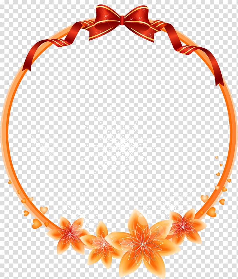 Circular clipart flower clip free download Round orange flowers frame , frame Flower , Cartoon beautiful ... clip free download