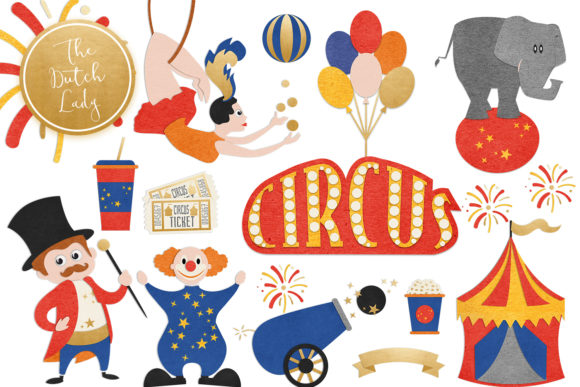 Circus graphics clipart clipart black and white download Circus & Carnival Show Clipart Set clipart black and white download