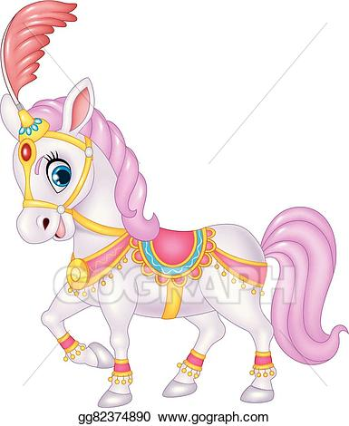 Circus horse clipart clip art transparent download EPS Illustration - Cute circus horse isolated . Vector Clipart ... clip art transparent download