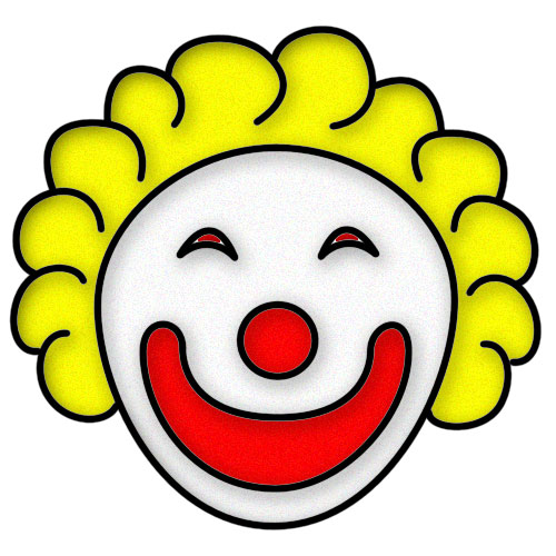 Circus joker face clipart png royalty free library Halloween Clown Clipart - Clipart Kid png royalty free library