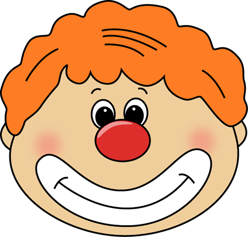 Circus joker face clipart png royalty free download Circus Clip Art - Circus Images png royalty free download