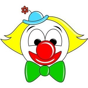 Circus joker face clipart clipart library download Clown Clipart Image - Cartoon Clown Face - Polyvore - ClipArt Best ... clipart library download