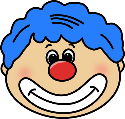 Circus joker face clipart graphic transparent stock Circus Clown Face Clip Art - Circus Clown Face Image graphic transparent stock