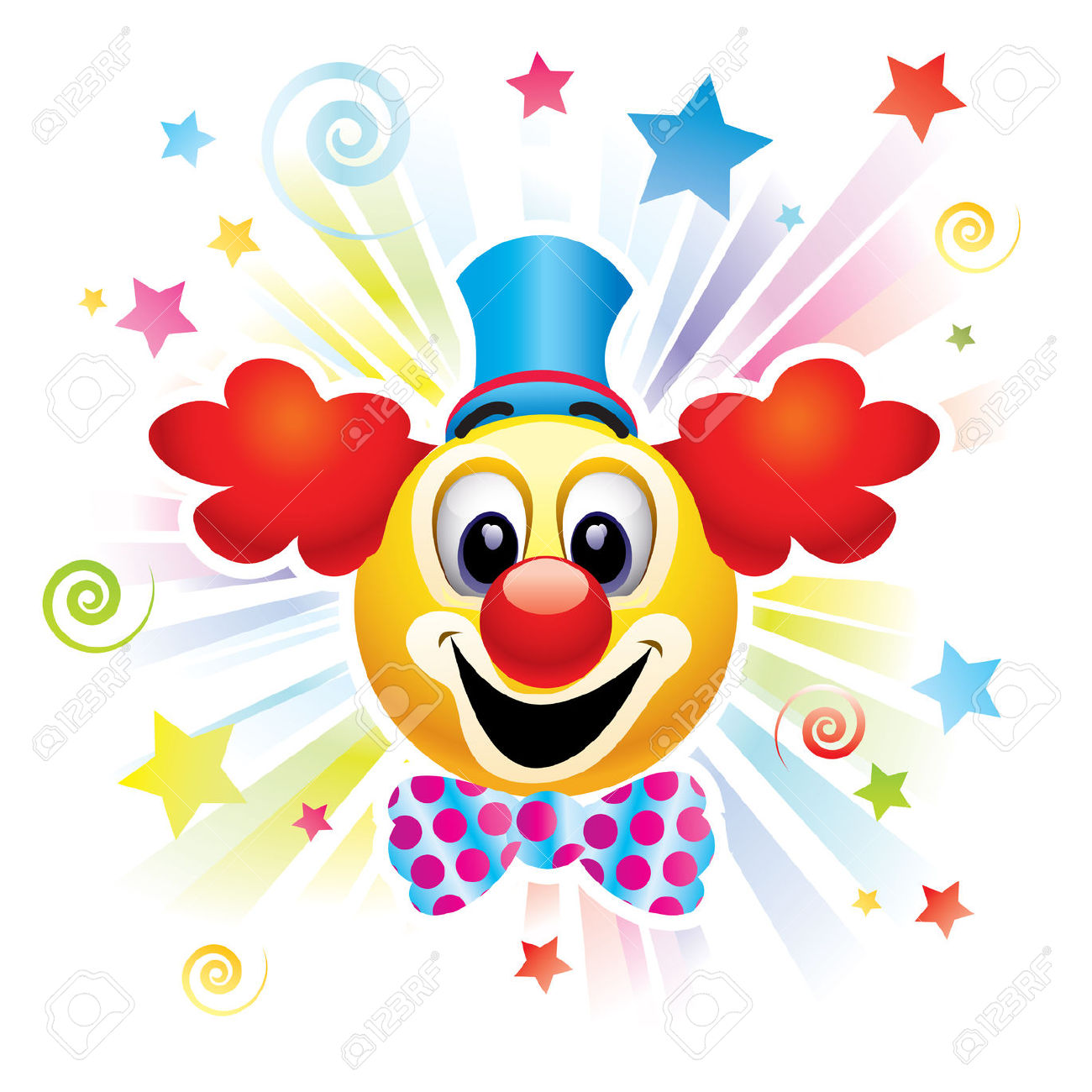 Circus joker face clipart graphic black and white download Cute clown face clipart - ClipartFest graphic black and white download