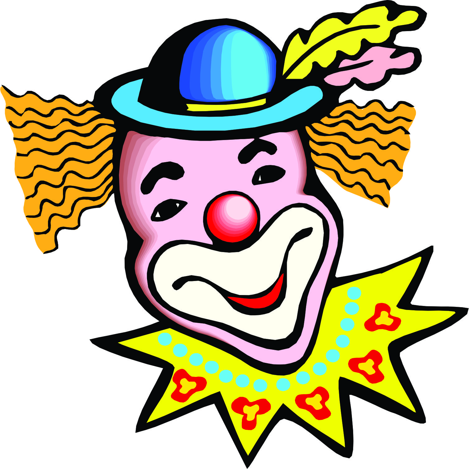 Circus joker face clipart clip art black and white download Cartoon Clown Face | Free Download Clip Art | Free Clip Art | on ... clip art black and white download