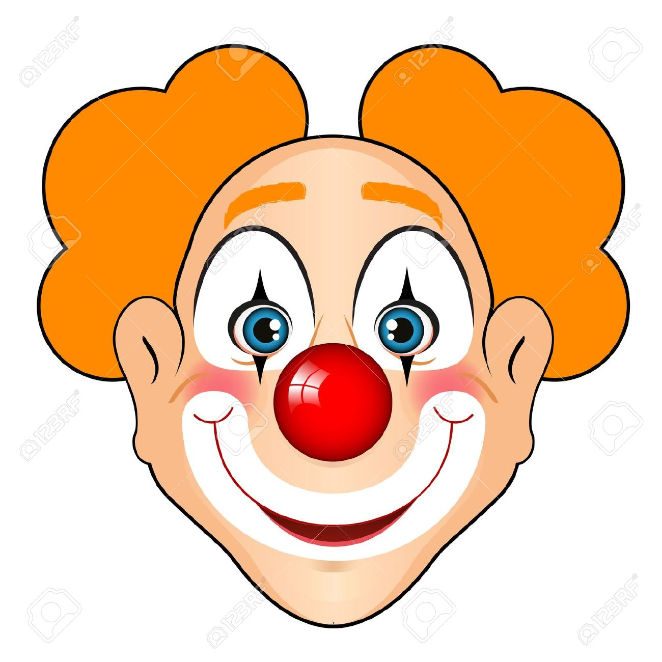 Circus joker face clipart image black and white Circus joker face clipart - ClipartFest image black and white