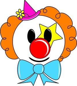 Circus joker face clipart