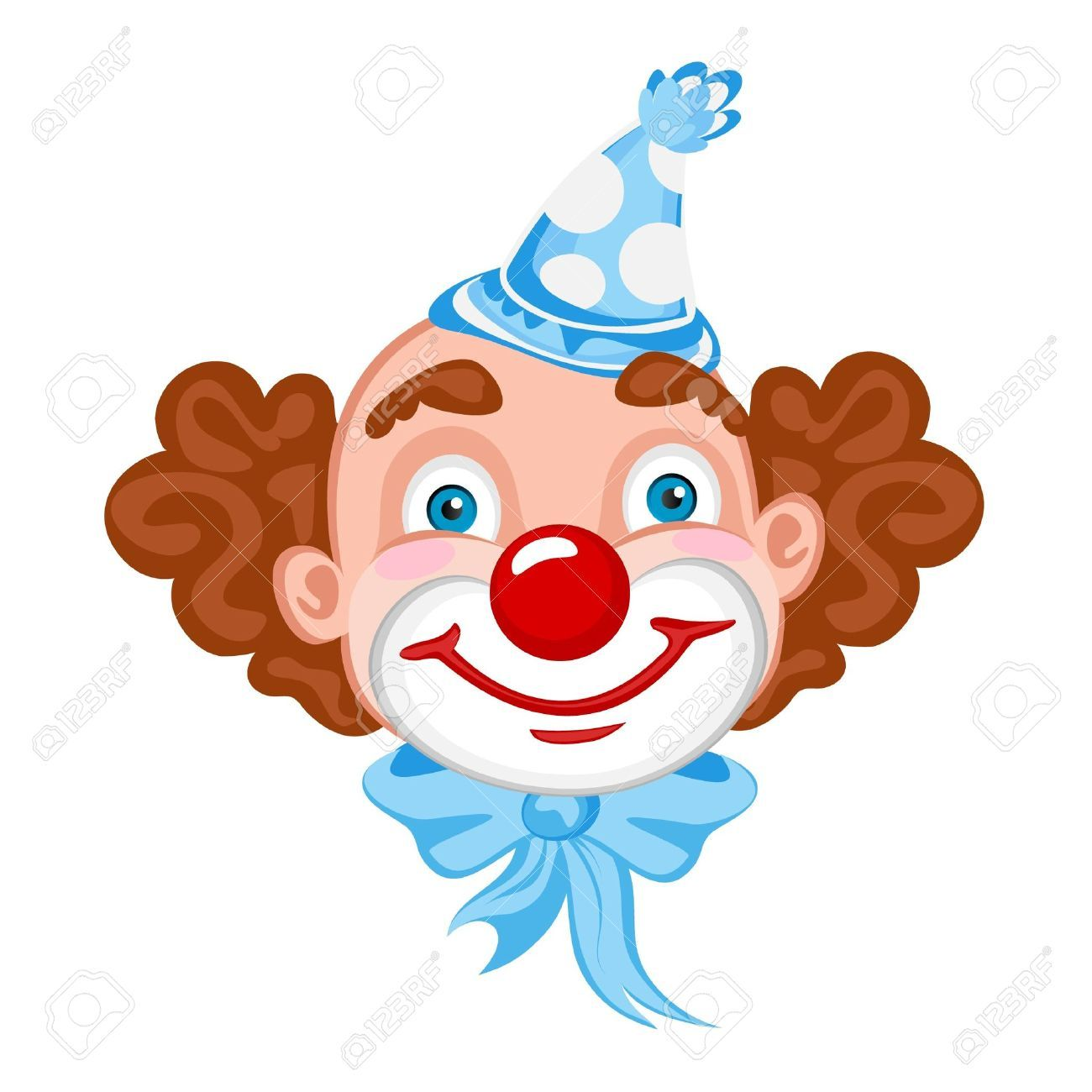 Circus joker face clipart png black and white download Clown Face Template. best photos of clown face template circus ... png black and white download