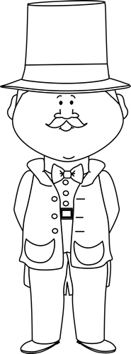 Circus ring master clipart black and white graphic freeuse Black and White Circus Ringmaster | K-4 Ideals | Preschool circus ... graphic freeuse