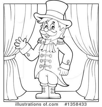 Circus ring master clipart black and white image black and white stock Ringmaster Clipart #1358433 - Illustration by visekart image black and white stock