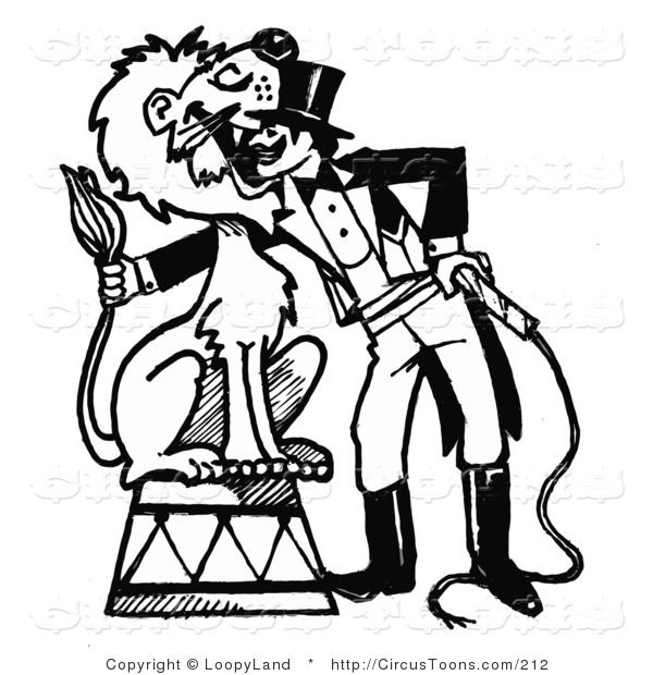 Circus ring master clipart black and white clip library Circus Clipart of a Black and White Sketched Circus Ringmaster with ... clip library