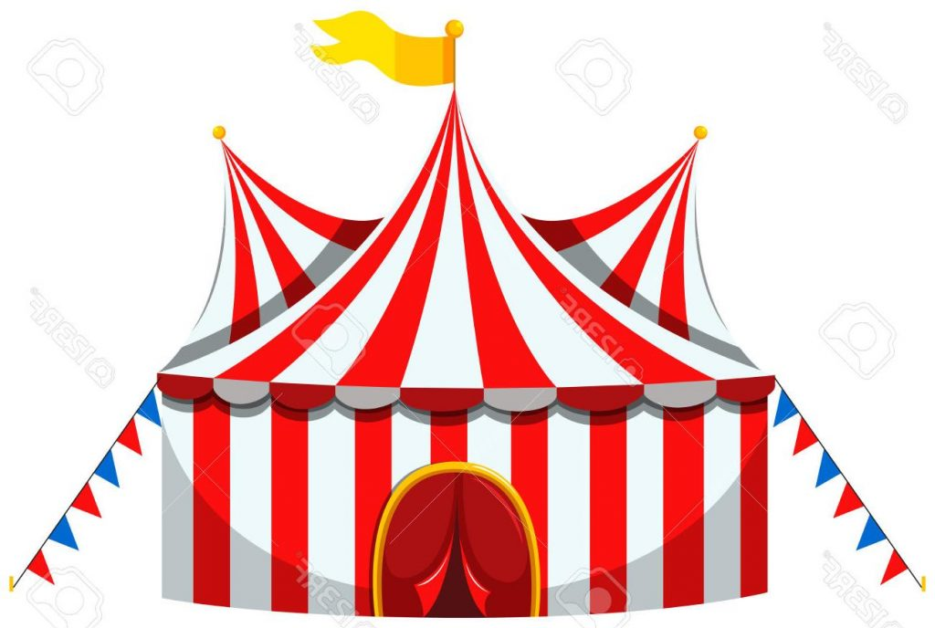 Circus tent with poles clipart