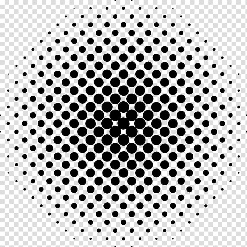 Cirlcle dots clipart gray