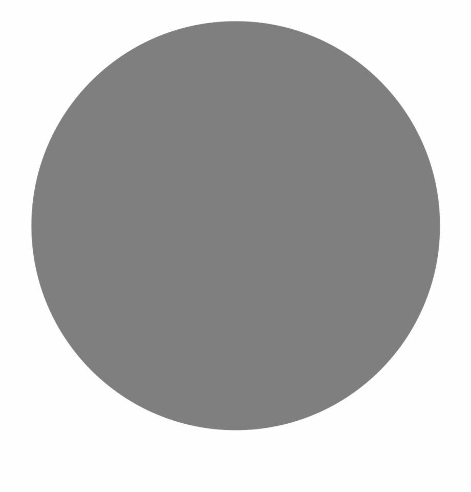 Grey circle clipart clipart black and white Circle Grey Solid - Grey Dot Free PNG Images & Clipart Download ... clipart black and white