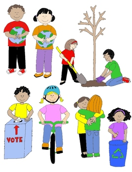 Citenship clipart vector free stock Kids in Action: Citizenship and Service Clip Art 22 PNGs | Products ... vector free stock
