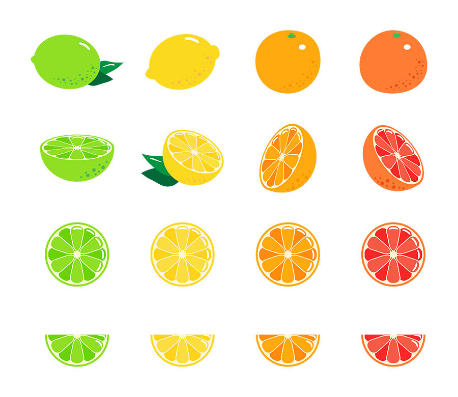 Citrus fruits clipart svg black and white download 16 Citrus Fruits, Fruit Clipart, Citrus Clipart, Lemon Clipart, Lime ... svg black and white download