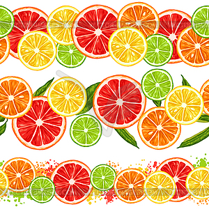 Citrus fruits clipart png freeuse download Seamless pattern with citrus fruits slices. Mix of - vector clipart png freeuse download