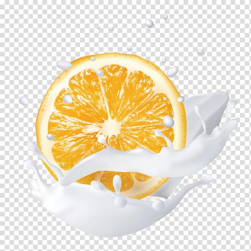 Citrus rainbow clipart png library stock Sliced orange , Juice Lemon Milk, Hand-painted splash of orange milk ... png library stock