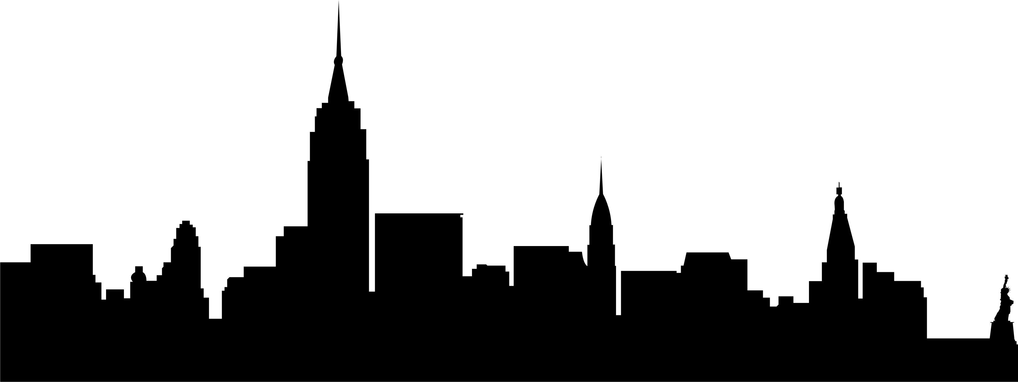 Nyc skyline silhouette clipart black and white clip freeuse stock 3302x1242 Cityscape Clipart Nyc Skyline | ADAM/DAVE\'S WEDDING in ... clip freeuse stock