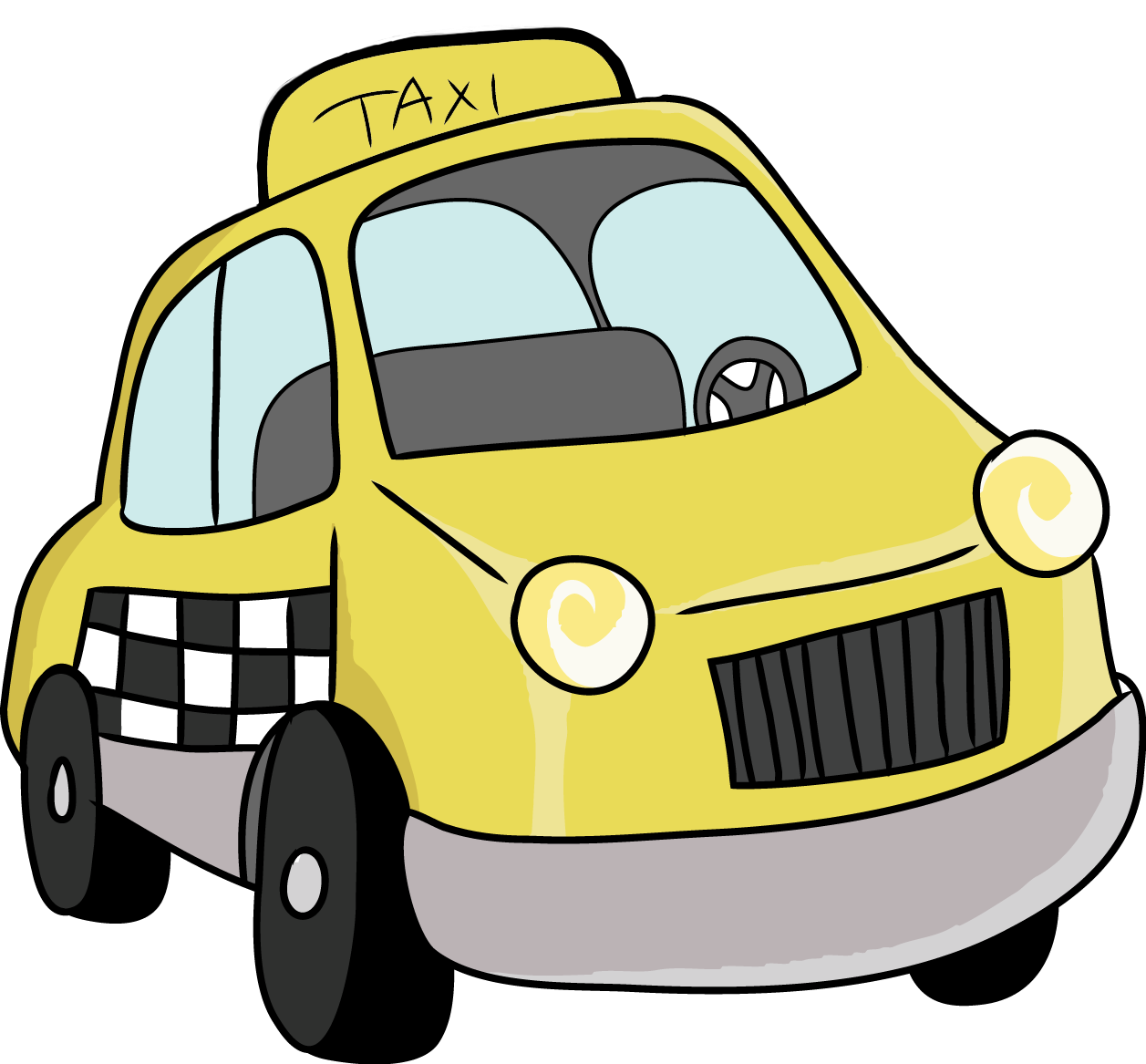 City car clipart banner Toy Taxi Car. Cartoon Yellow Cab Vector Illustration. Stock Vector ... banner