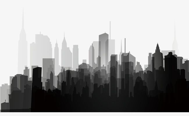 City clipart black and white transparent background png freeuse stock Black And White City Silhouette, Black And White, City, Silhouette ... png freeuse stock