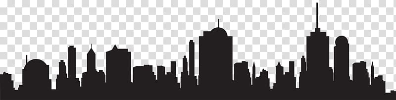 City clipart black and white transparent background graphic freeuse City building , New York City Silhouette Skyline, City Silhouette ... graphic freeuse