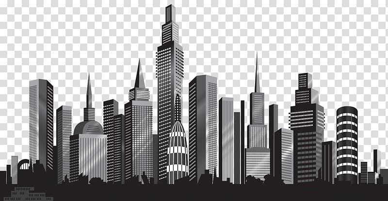 City clipart black and white transparent background svg library stock Cityscape Skyline , Cityscape Silhouette , cityscape illustration ... svg library stock