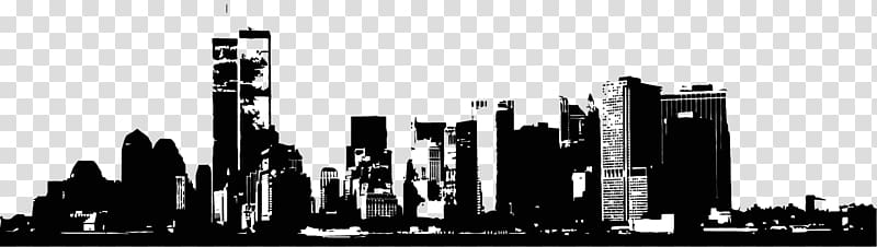 City clipart black and white transparent background black and white stock Building City Skyscraper Skyline, city building transparent ... black and white stock